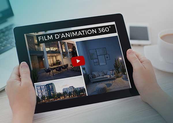 Film d'animation 360°